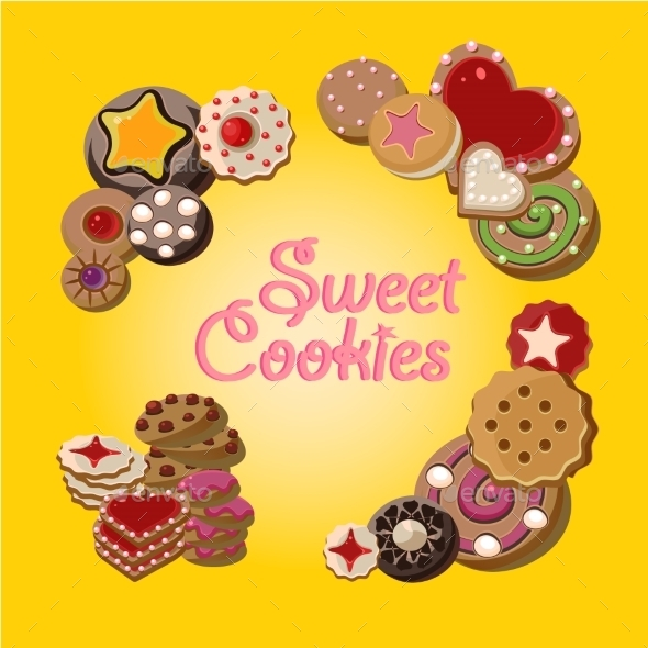 Cookies Vector Set - Food Objects