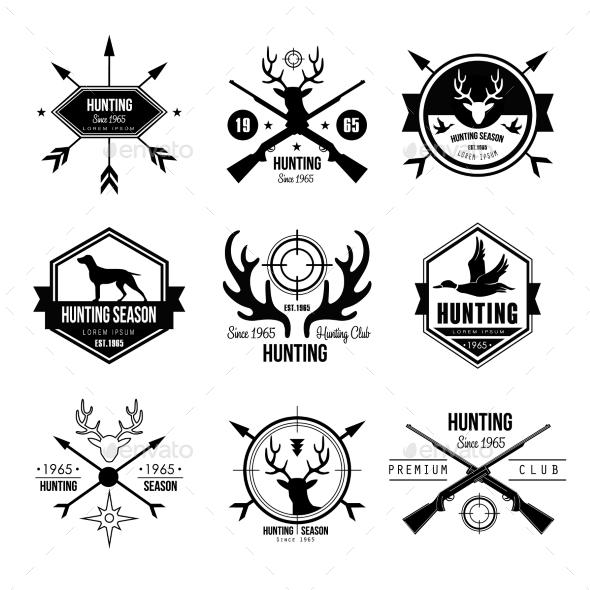 Badges Labels Logo Design Elements Hunting - Miscellaneous Vectors