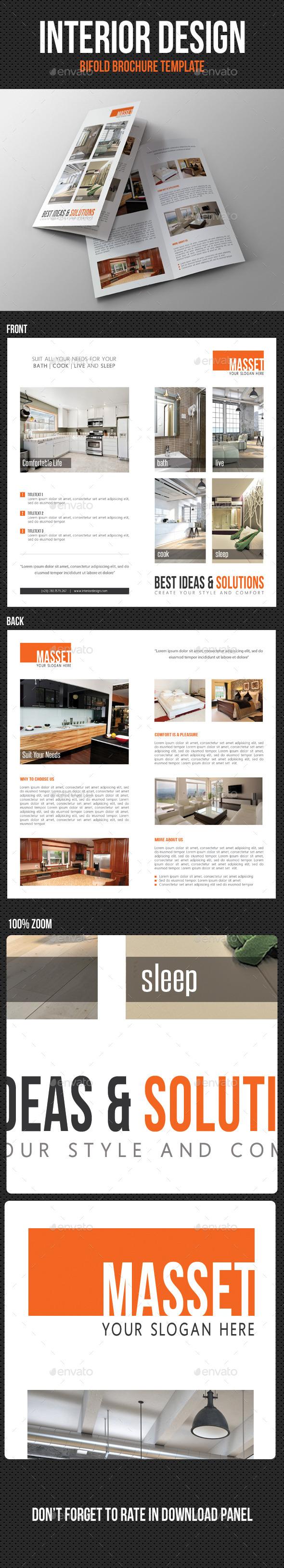 Interior Design Bifold Brochure 01 - Corporate Brochures