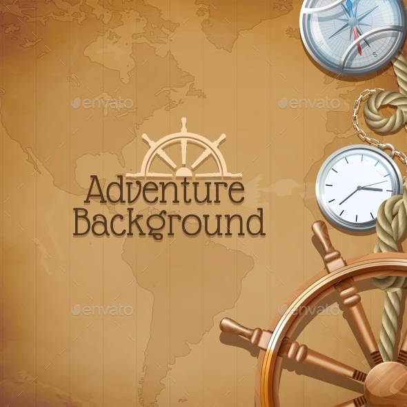 Adventure Map Background - Backgrounds Decorative