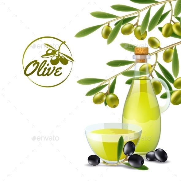 Olive Oil Pourer Background - Backgrounds Decorative