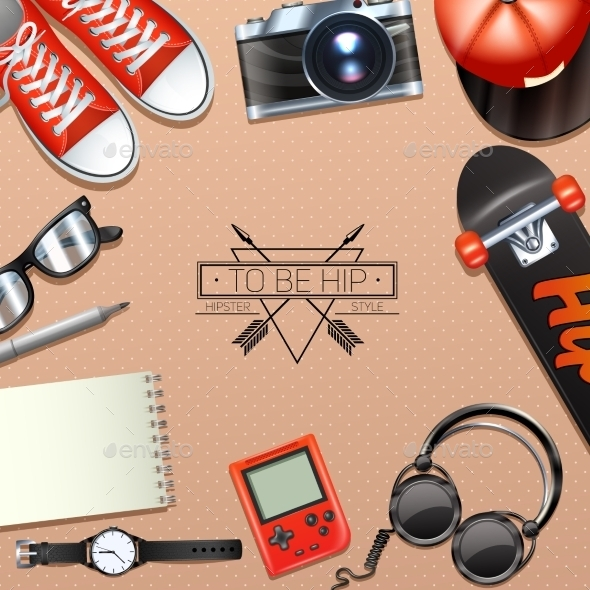 Hipster Background Illustration - Backgrounds Decorative