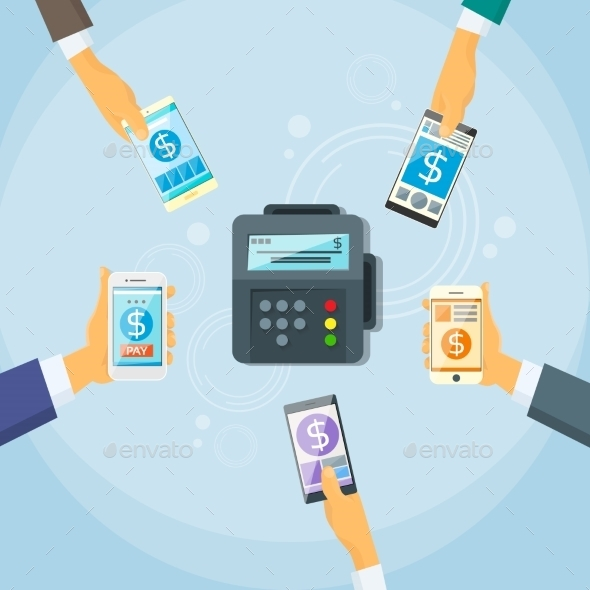 Smart Phone Mobile Payment Device NFC Terminal - Concepts Business