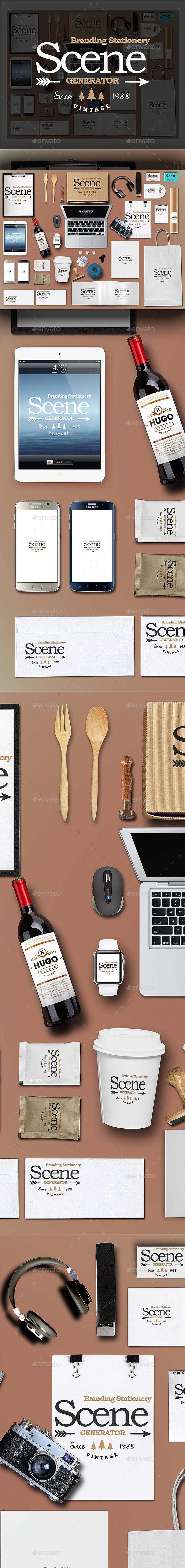 Branding Stationery Scene Generator - Stationery Print