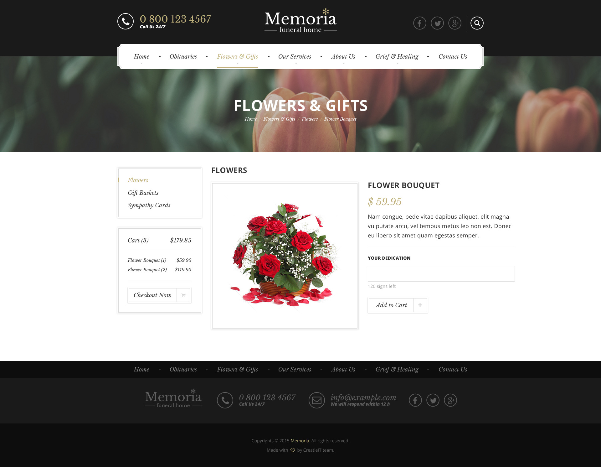 memoria funeral home html template by createit pl themeforest