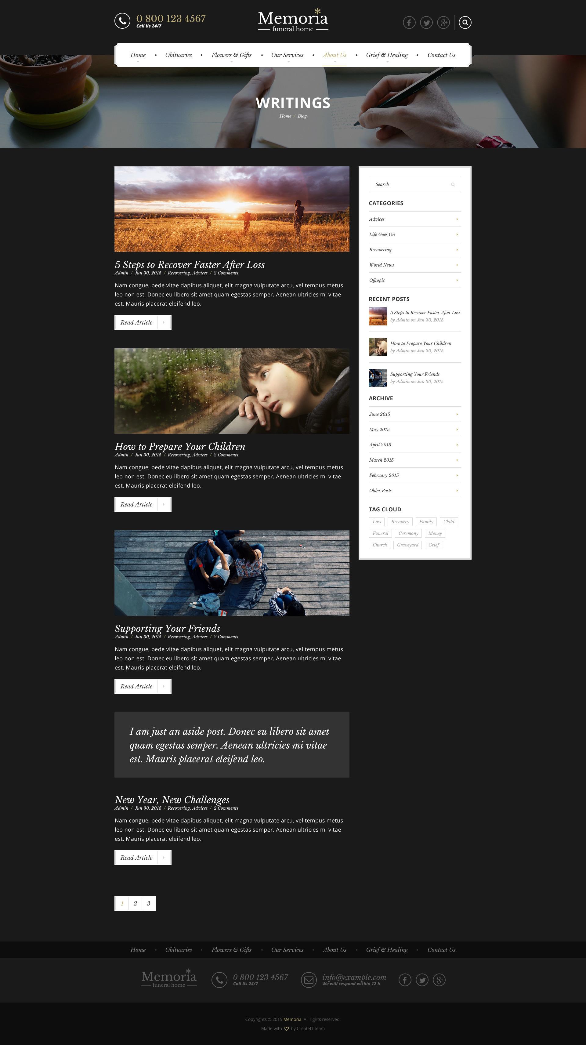 memoria - funeral home html templatecreateit-pl   themeforest