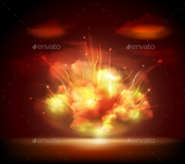 Night Explosion Background Banner - Backgrounds Decorative