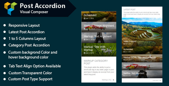 WPBakery Page Builder - Post Accordion (formerly Visual Composer) - CodeCanyon Item for Sale