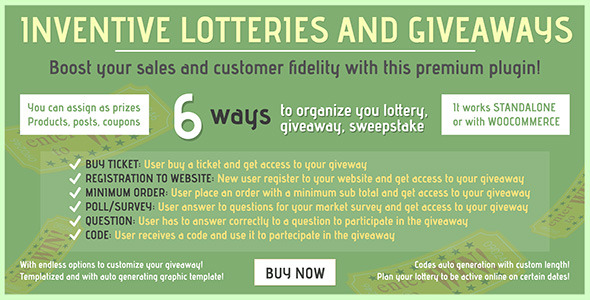 Inventive lotteries and giveaways - CodeCanyon Item for Sale