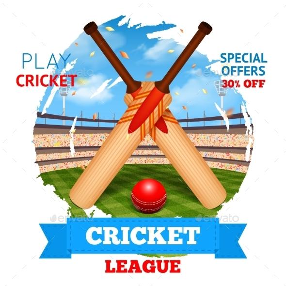 Cricket Stadium Illustration - Sports/Activity Conceptual