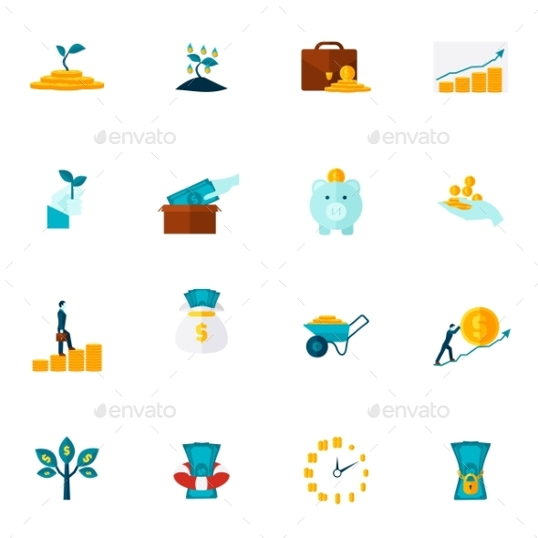 Investment Flat Icon Set - Miscellaneous Icons