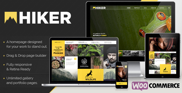 Hiker WordPress Photography Theme