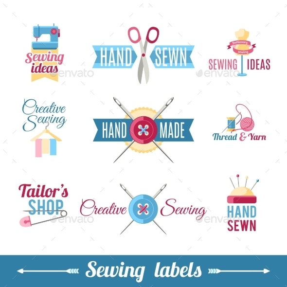 Sewing Labels Pictograms  Collection - Retail Commercial / Shopping