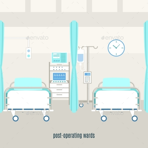 Medical Post Operating Recovery Ward Poster - Health/Medicine Conceptual