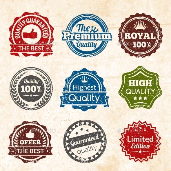 Vintage Premium Quality - Objects Vectors