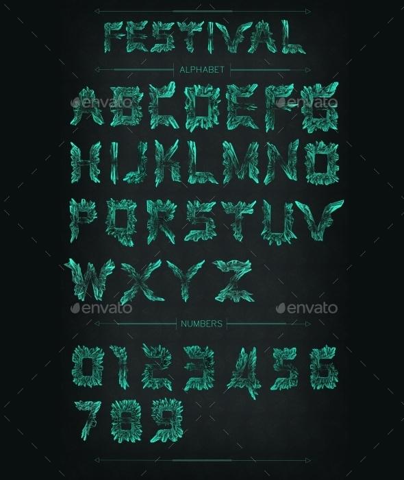 Festival Alphabet - Text 3D Renders