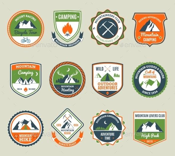 Mountain Adventure Emblems - Nature Conceptual