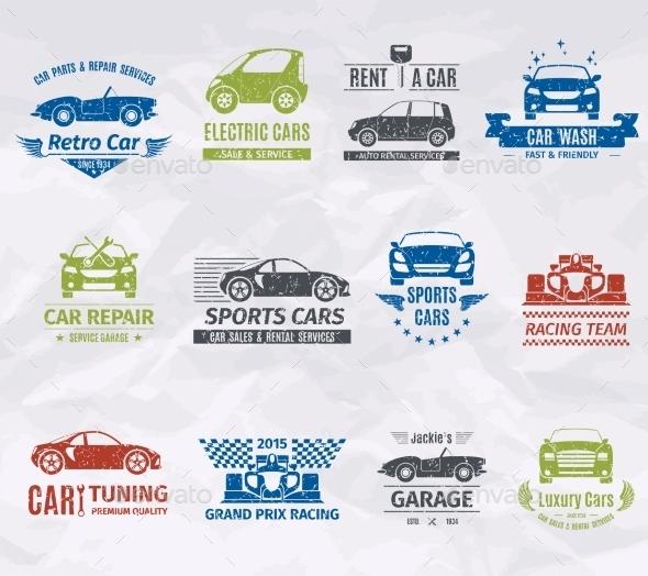 Car Logo Stamps - Miscellaneous Vectors