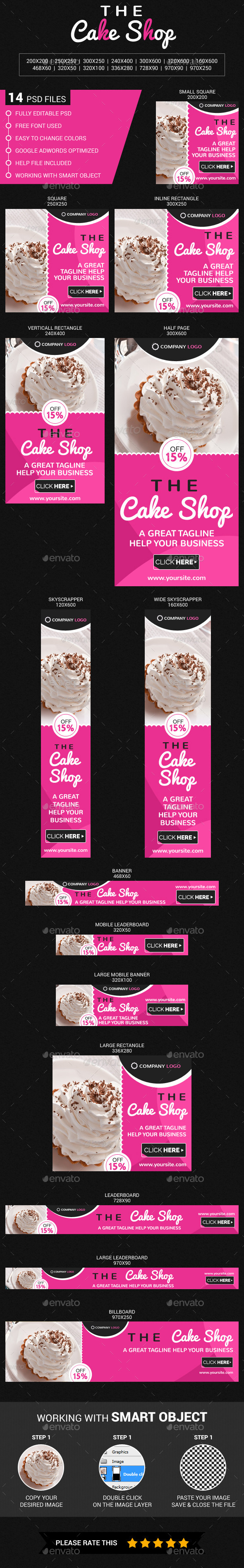 Cake Shop - Banners & Ads Web Elements