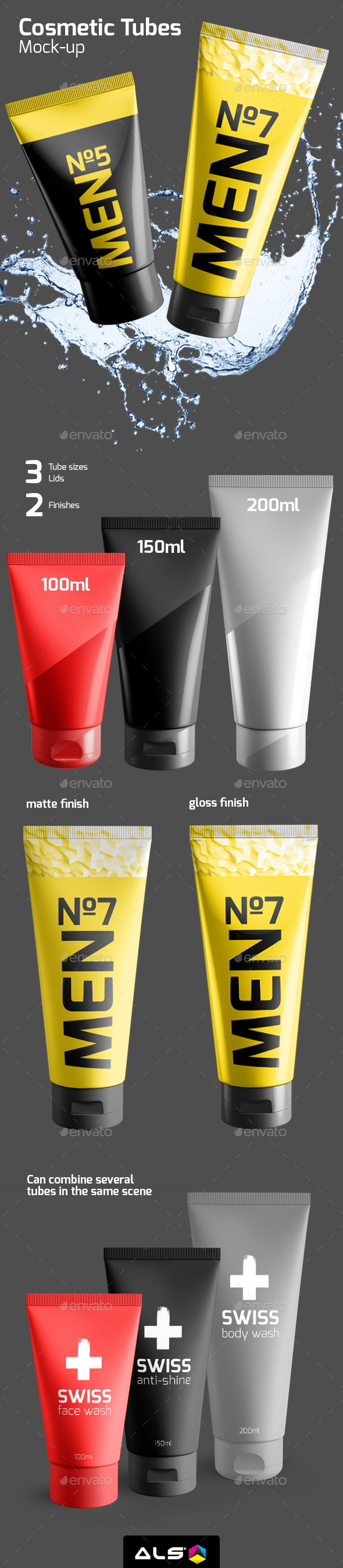 Cosmetic Tube Mock-up - Beauty Packaging