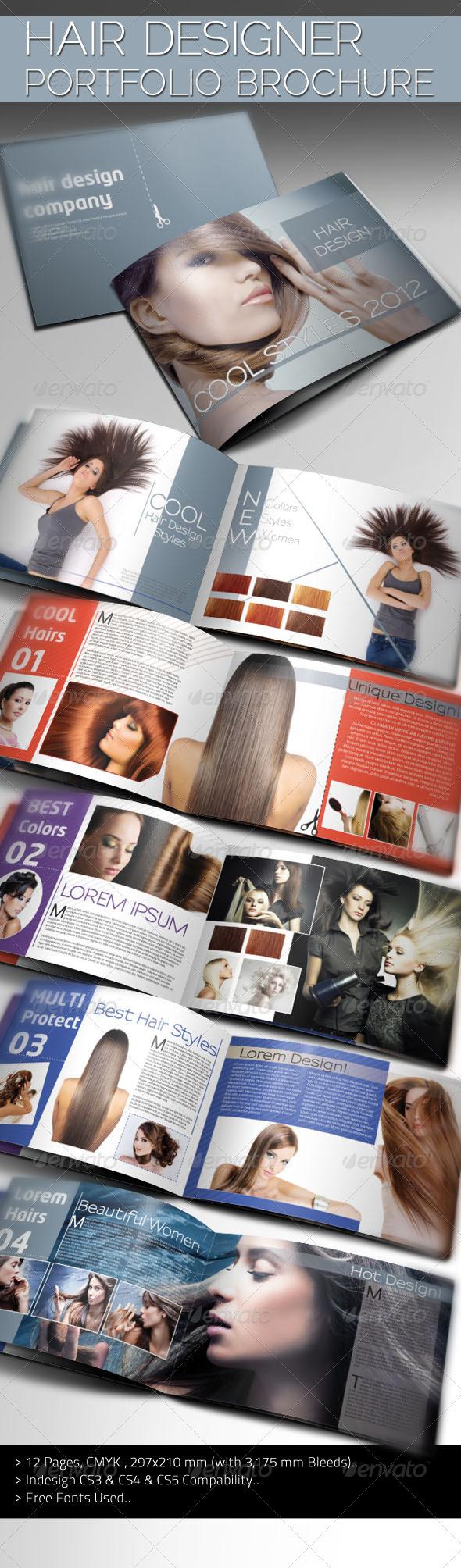 Hair Designer Portfolio - Portfolio Brochures