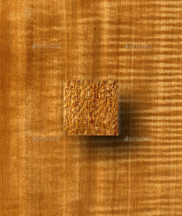 Figured Douka (Makore) Wood Texture - Wood Textures