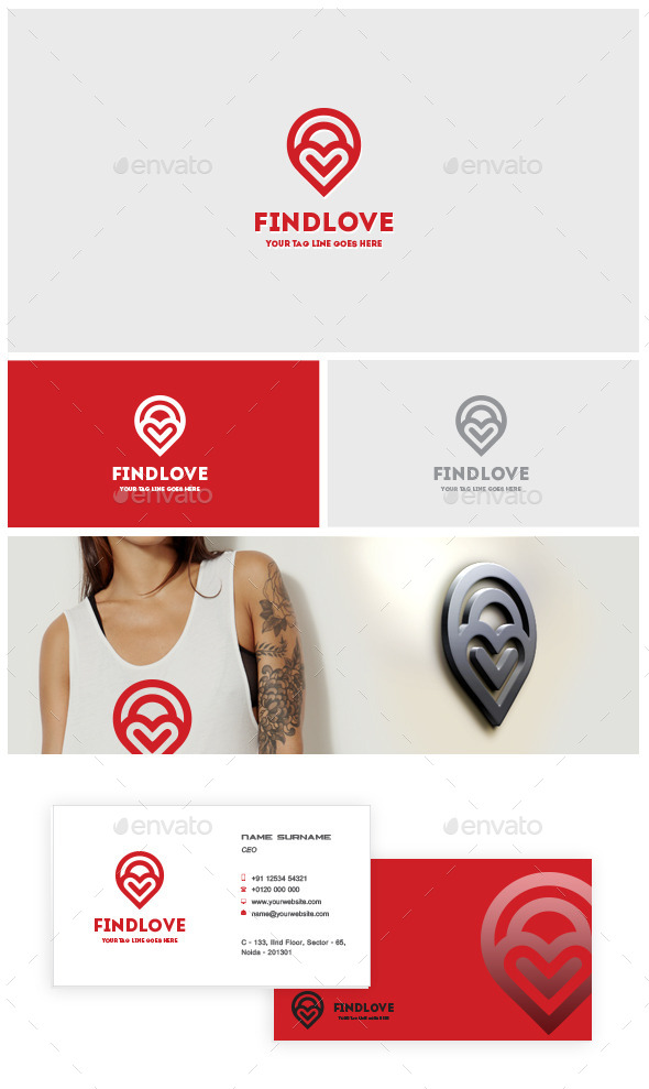 Find Love Logo Template - Crests Logo Templates