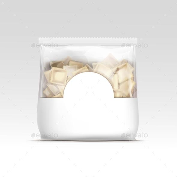 Pelmeni Meat Dumplings Ravioli Packaging - Food Objects