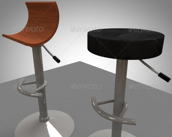 2 bar / breakfast bar stools - 3DOcean Item for Sale