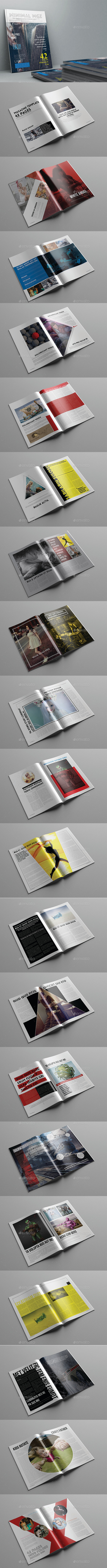 Minimal Magazine Template 42 Pages - Magazines Print Templates