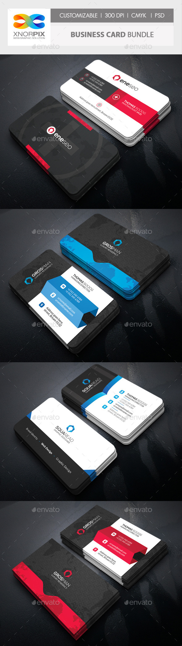 Business Card Bundle 3 in 1-Vol 57 - Corporate Business Cards