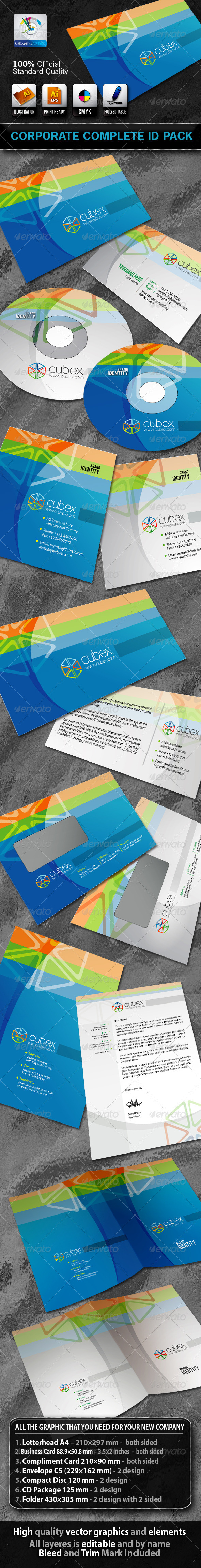 Cubex Business Corporate ID Pack + Logo - Stationery Print Templates
