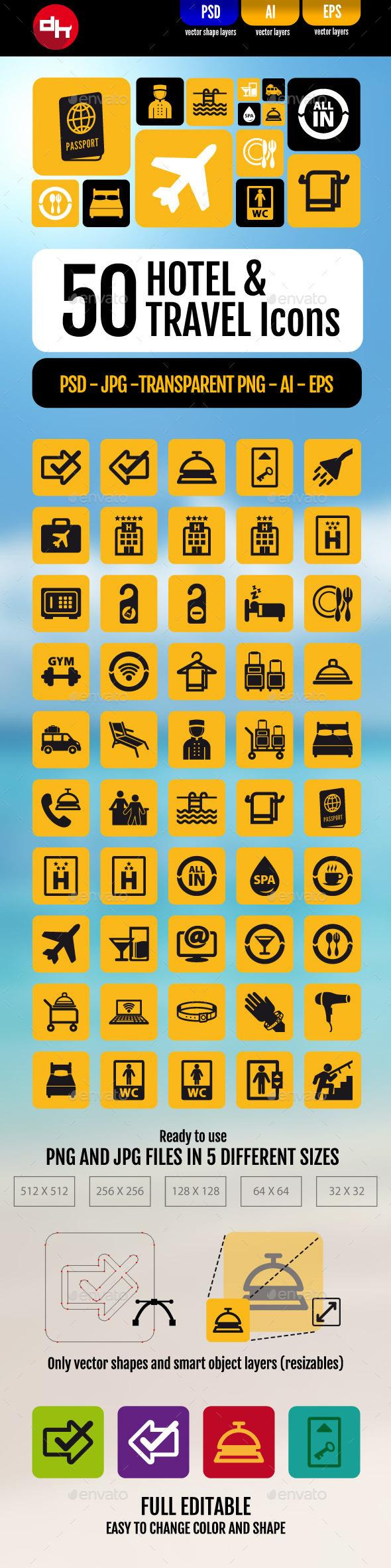 Hotel & Travel Icons Pack - Seasonal Icons