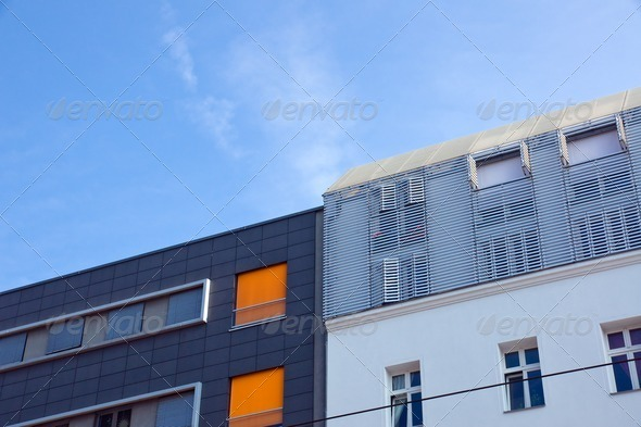 Modern apartment buildings - Stock Photo - Images