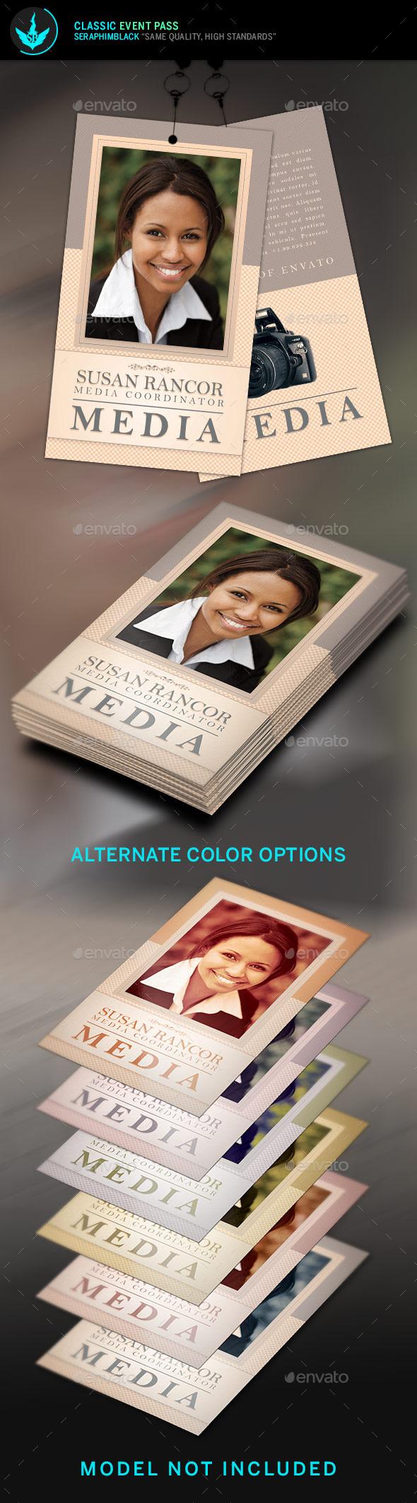 Classic Media Credentials Template - Miscellaneous Print Templates