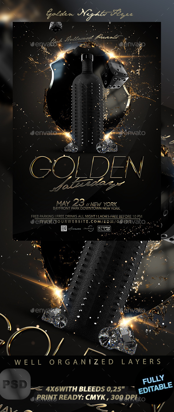 Golden Nights Flyer - Events Flyers