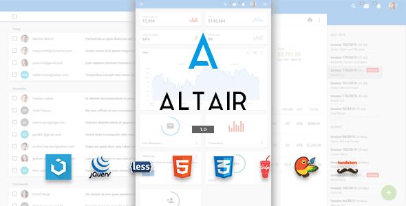 Altair Material Design Premium Template