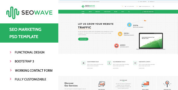 Seo Wave - HTML Template for SEO - Business Corporate