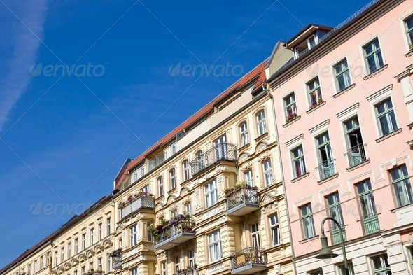 Old apartment buildings in Berlin - Stock Photo - Images
