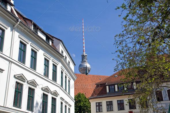 Nikolaiviertel in Berlin - Stock Photo - Images