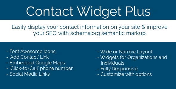 Contact Widget Plus for WordPress - CodeCanyon Item for Sale