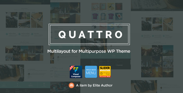Quattro – Multilayout for Multipurpose WP Theme