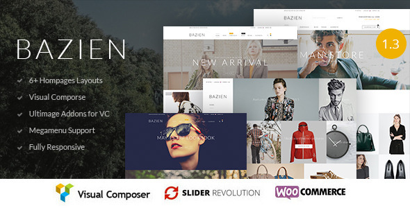 Bazien  – WordPress / Woocommerce Responsive Theme
