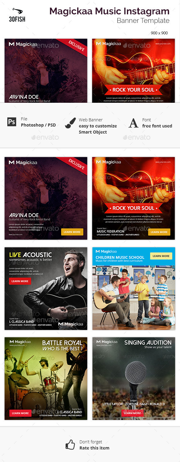 Magickaa Music Instagram Banner - Banners & Ads Web Elements