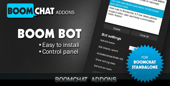Boombot addon for Boomchat PHP/AJAX chat - CodeCanyon Item for Sale