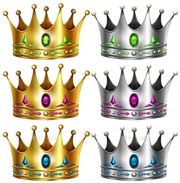 Crowns - Objects Vectors