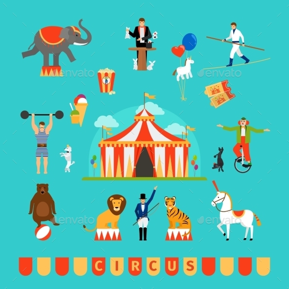 Circus And Fun Fair Elements - Miscellaneous Vectors