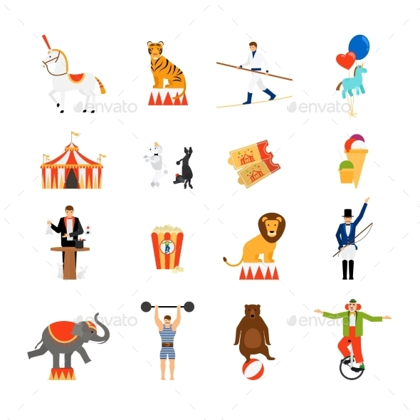 Circus Flat Icons - Miscellaneous Vectors