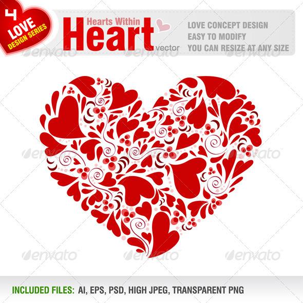 Hearts Within Heart - Valentines Seasons/Holidays