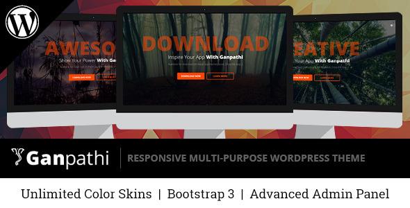 Ganpathi – Responsive App Landing Page WordPress Theme